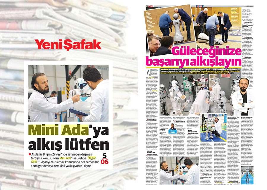 AKINSOFT AKINROBOTICS Yönetim Kurulu Başkanı Dr Özgür AKINın Yeni Şafak Gazetesinde Yer Alan Röportajı - 1