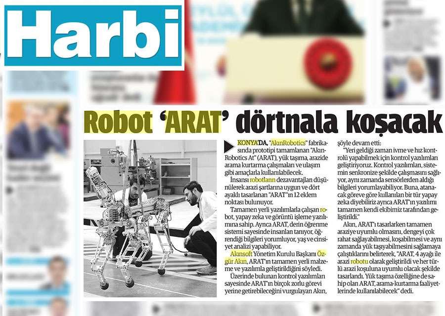 4 Ayaklı Robot ARAT Hakkında Basında Yer Alan Haberler - 15