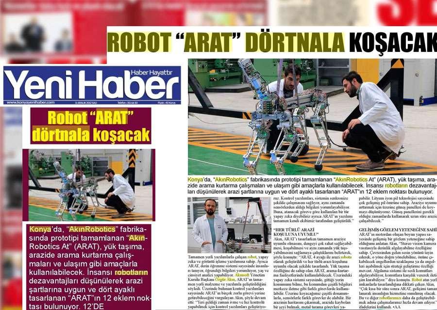 4 Ayaklı Robot ARAT Hakkında Basında Yer Alan Haberler - 9