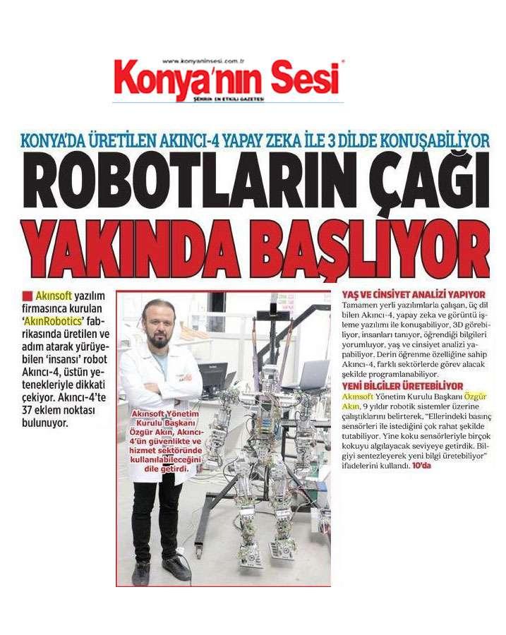 Adım Atan Robot Akıncı 4 Görücüye Çıktı Konulu Basında Yer Alan Haberler - 36