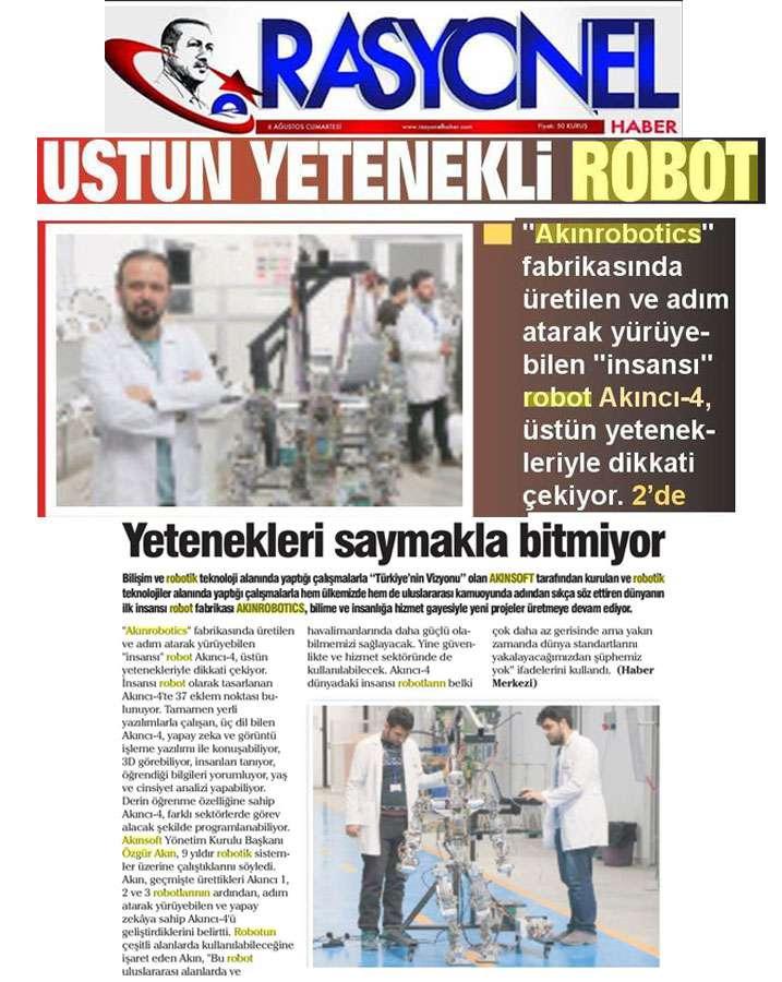 Adım Atan Robot Akıncı 4 Görücüye Çıktı Konulu Basında Yer Alan Haberler - 26