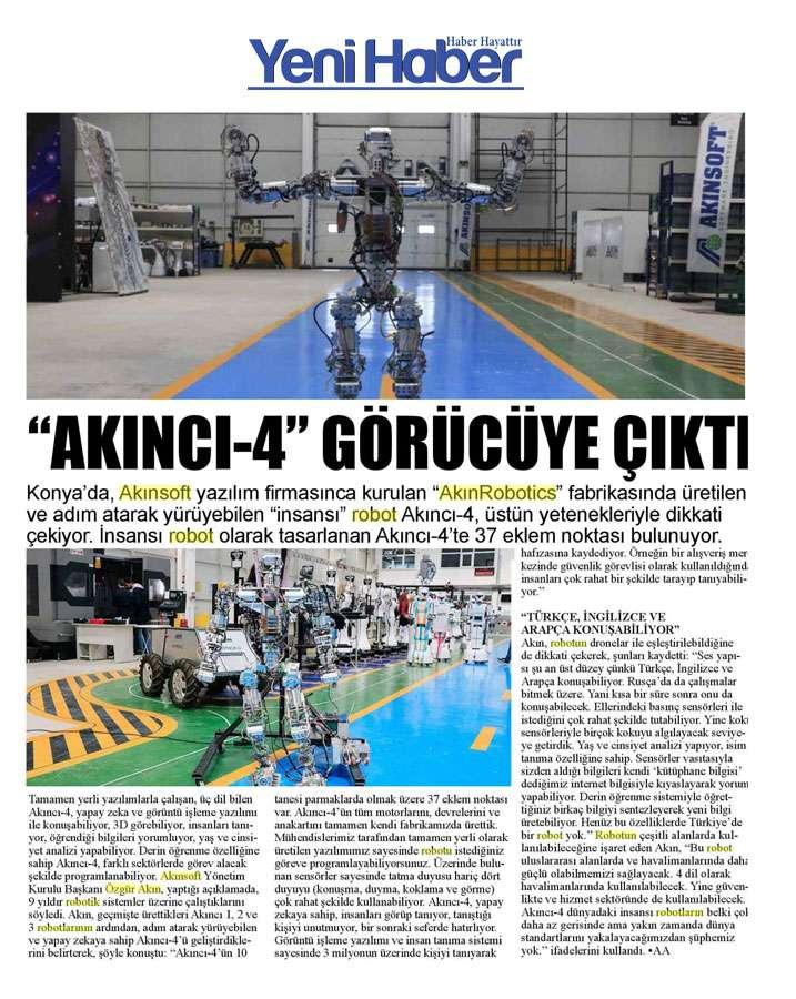 Adım Atan Robot Akıncı 4 Görücüye Çıktı Konulu Basında Yer Alan Haberler - 11