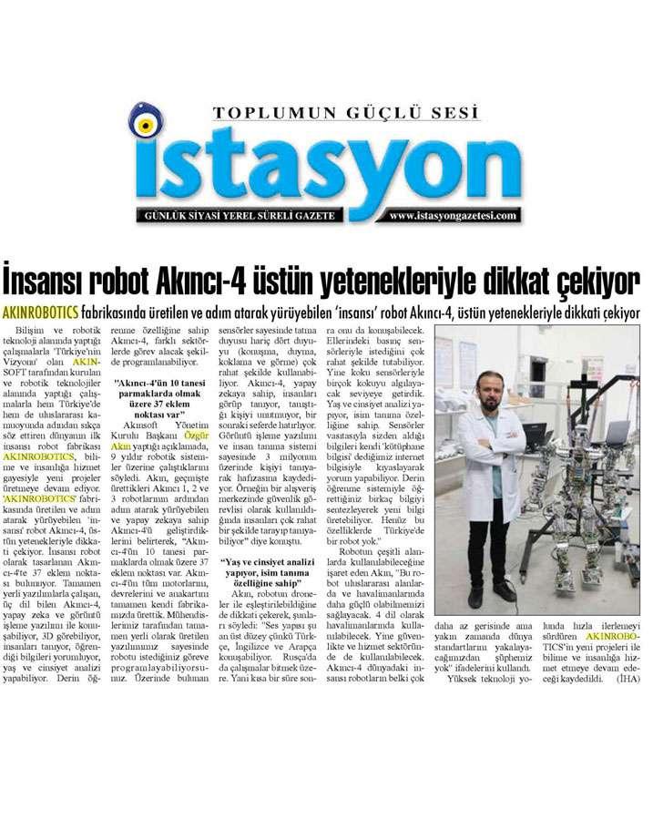Adım Atan Robot Akıncı 4 Görücüye Çıktı Konulu Basında Yer Alan Haberler - 1