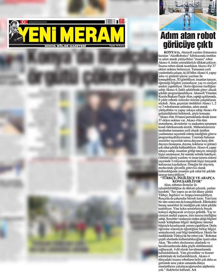 Adım Atan Robot Akıncı 4 Görücüye Çıktı Konulu Basında Yer Alan Haberler - 28