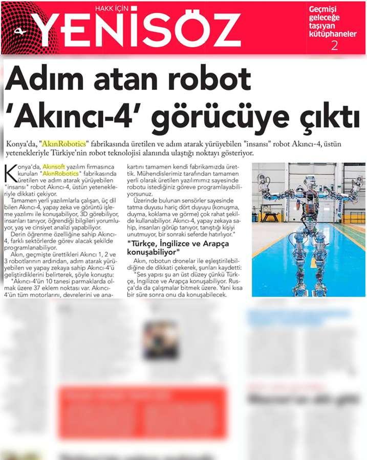 Adım Atan Robot Akıncı 4 Görücüye Çıktı Konulu Basında Yer Alan Haberler - 17