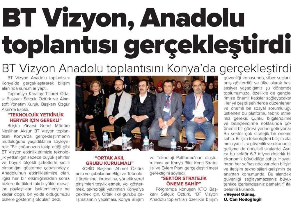 AKINSOFTAKINROBOTICS Yönetim Kurulu Başkanı DrÖzgür AKIN BTvizyon Konya Toplantı Organizasyonu konulu haber çalışmaları - 2