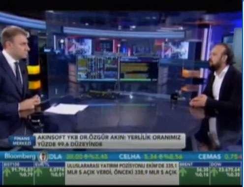 Dr. Özgür AKIN Bloomberg HT Televizyonunda Gökhan ŞEN ile Finans Merkezi Programının Konuğu Oldu