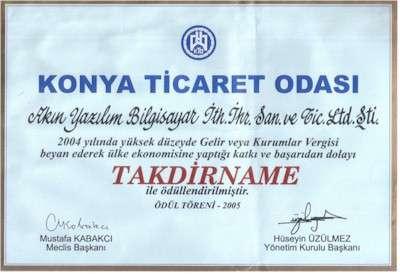 Konya Ticaret Odası Ödülü