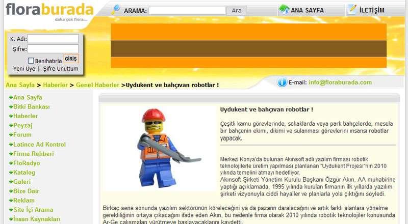 Floraburada Web Sitesi