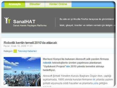 Sanal Hat Web Sitesi