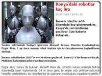 sicakgundemcom Web Sitesinin Konyadaki Robotlar Kaç Lira  Konulu Haberi