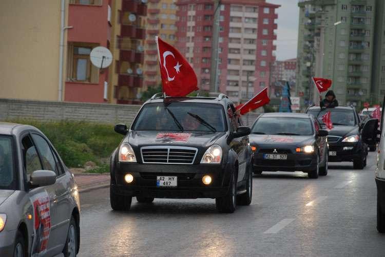 Konya da Coşkulu Konvoy - 2
