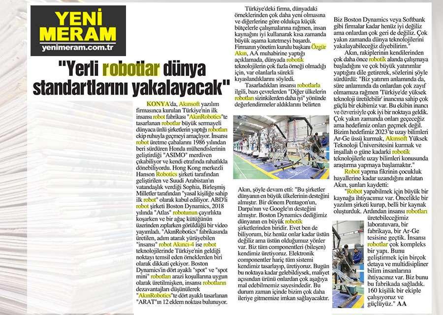Yerli Robotlar Dünya Standartlarını Yakalayacak Konulu Basında Yer Alan Haberler - 5