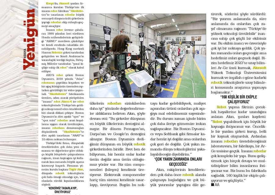 Yerli Robotlar Dünya Standartlarını Yakalayacak Konulu Basında Yer Alan Haberler - 24