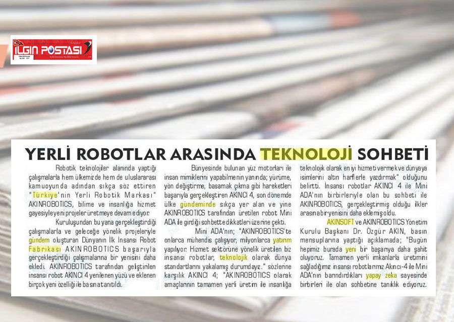 Yerli İnsansı Robot AKINCI4 Konulu Basında Yer Alan Haberler - 6
