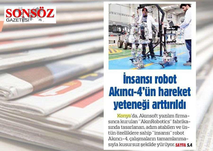 Yerli İnsansı Robot AKINCI4 Konulu Basında Yer Alan Haberler - 22