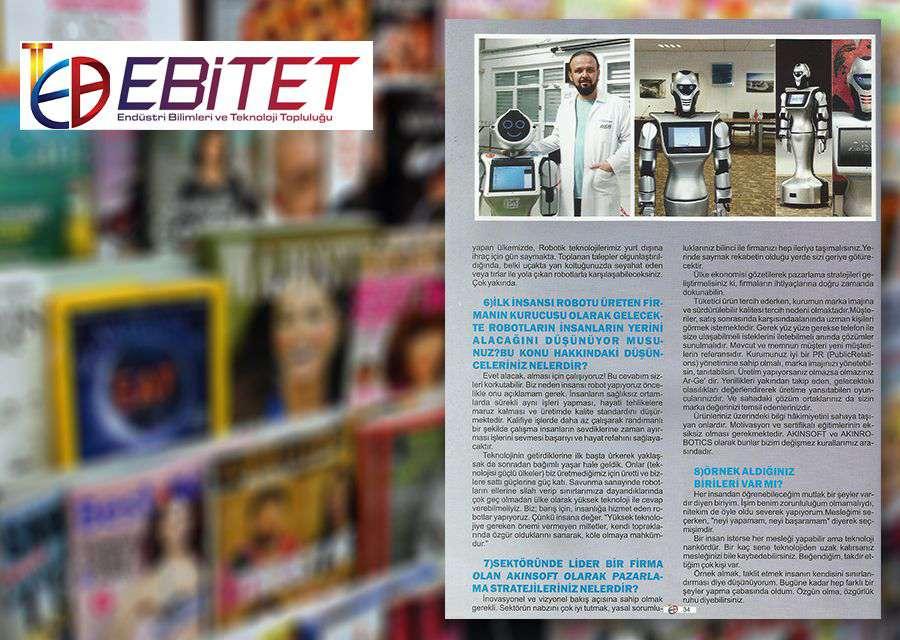 Dr Özgür AKIN EBİTET Dergisi Nisan Sayısının Konuğu Oldu - 3