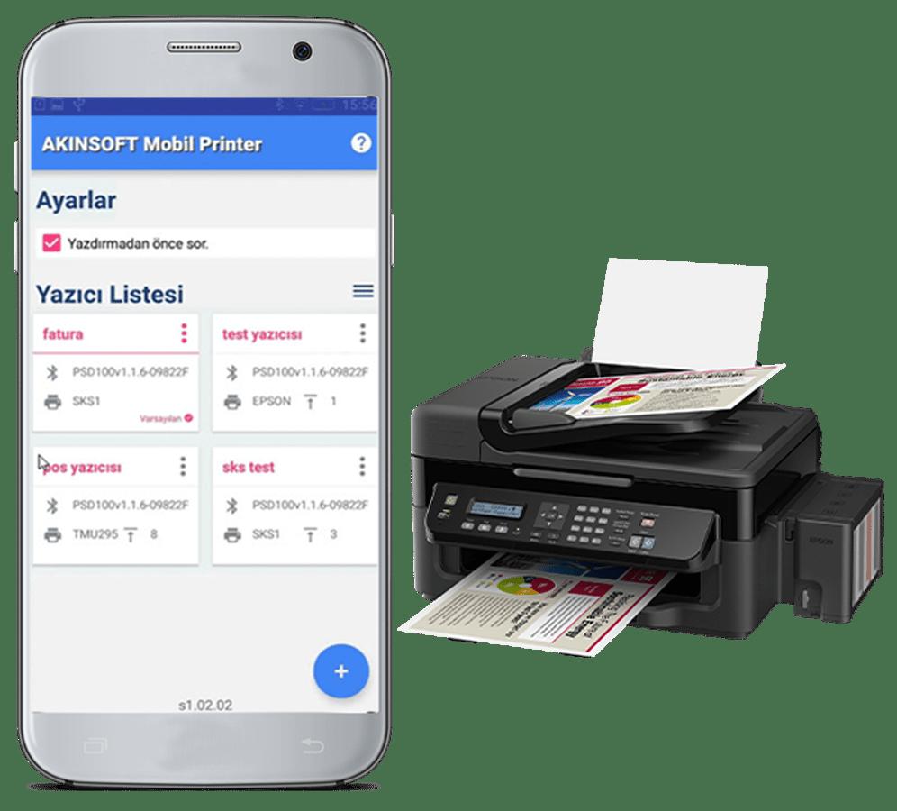 AKINSOFT Mobil Printer